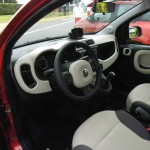 Hier nimmt der Fiat Panda Fahrer Platz