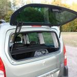 Heckfenster des Peugeot Partner Tepee