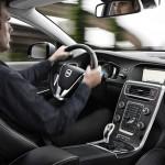 Cockpit des Volvo V60 Plug-in-Hybrid, der 2012 auf den Markt kommt