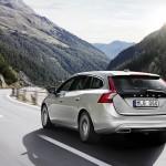 Der Volvo V60 Plug-in-Hybrid in der Heckansicht