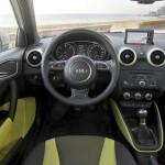 Hier sitzt der Fahrer des Audi A1 Sportback