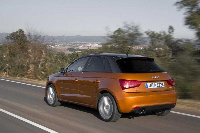 Kleinwagen Audi A1 Sportback in der Heckansicht