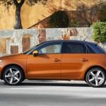 Der neue Audi A1 Sportback in der Seitenansicht