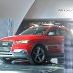 Audi feiert die in Detroit Weltpremiere des Q3