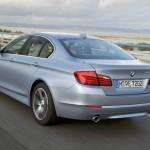 Der BMW Active Hybrid 5 in der Heckansicht