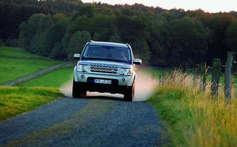 Der Land Rover Discovery in der Frontansicht