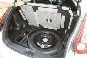 Das Reserverad des Nissan Juke