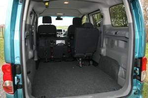 Reichlich Platz für das Gepäck im Nissan NV200 Evalia
