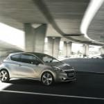 Neuer Peugeot 208 in der Seitenansicht