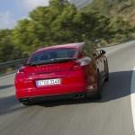 Das Heck des Porsche Panamera GTS