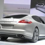 Die Heckpartie des Porsche Panamera GTS