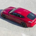 Der Porsche Panamera GTS aus der Vogelperspektive