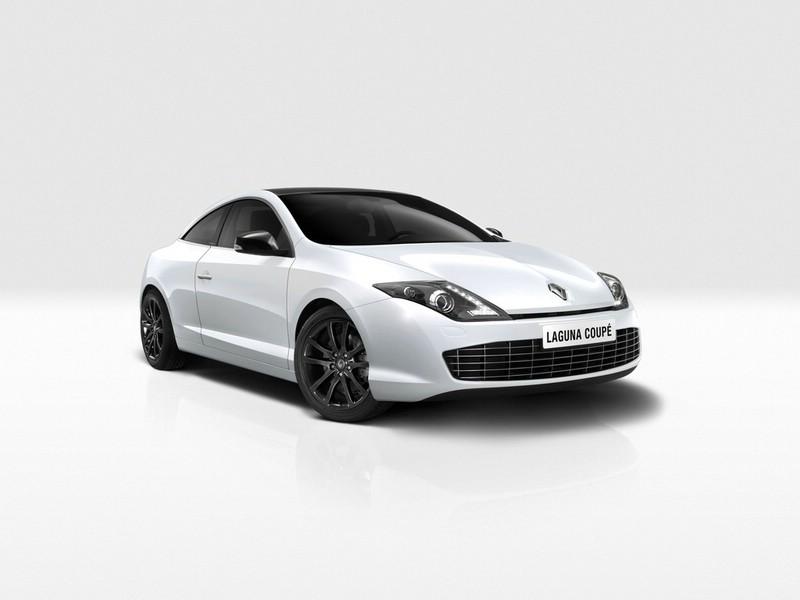 Das Renault Laguna Coupe in der Farbe Weiss