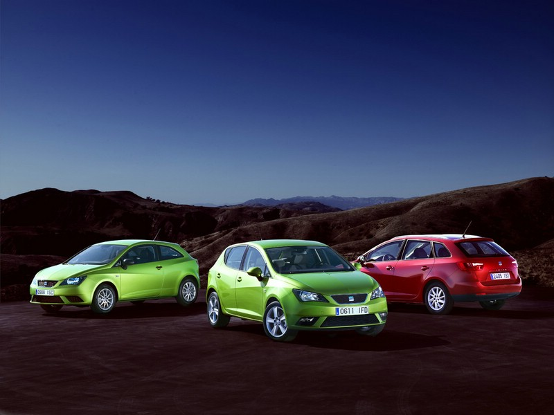 Seat Ibiza Modelle 2012 als 3, 5-Türer und Kombi