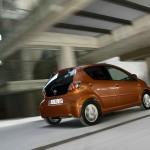Neues Modell des Toyota Aygo in der Heckansicht