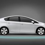 Der neue Toyota Prius in der Seitenansicht