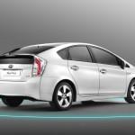Der Toyota Prius in der Heckansicht