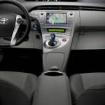 Die Mittelkonsole des Toyota Prius