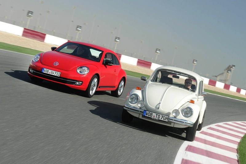 Der VW Beetle und Käfer im Vergleich Frontpartie
