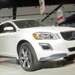 Der Volvo XC60 Hybrid in der Frontansicht - Detroit 2012