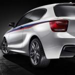 Die Heckschürze des Konzeptfahrzeugs BMW M135i Concept