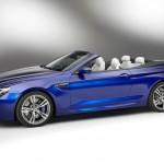 Das BMW M6 Cabrio in der Seitenansicht in der Farbe Blau