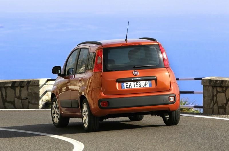 Die Heckpartie des Fiat Panda