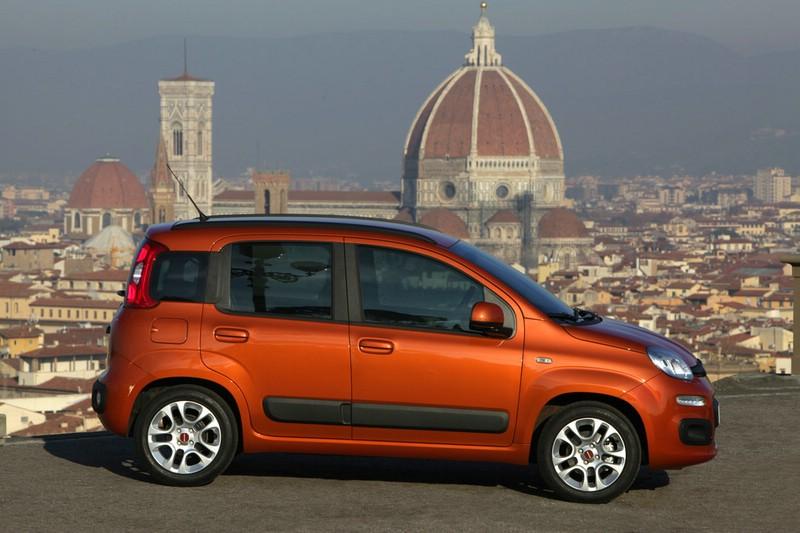 Der neue Fiat Panda in der Seitenansicht