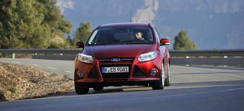 Der Ford Focus Ecoboost in der Frontansicht