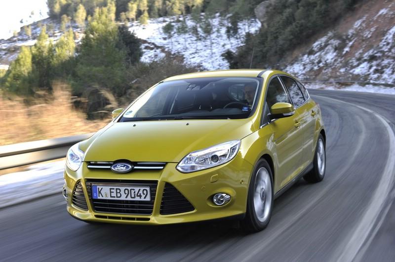 Die Frontansicht des Ford Focus Ecoboost