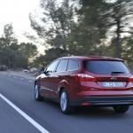 Die Heckansicht des neuen Ford Focus Ecoboost