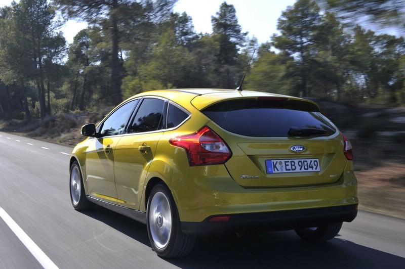 Die Heckpartie des neuen Ford Focus Ecoboost