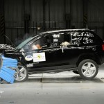 Jeep Compass beim Crashtest - Frontalcrash