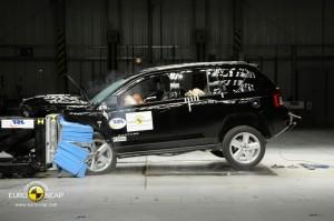 Jeep Compass beim Crashtest - Frontalcrash