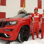 Massa und Alonso mit dem Jeep Grand Cherokee SRT8