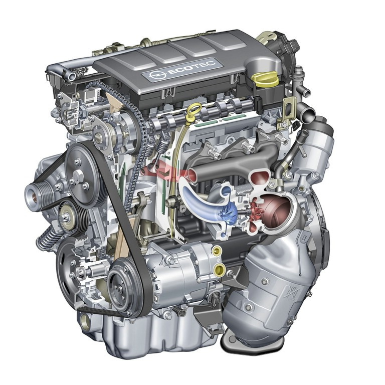 Der Opel Meriva 1,4-Liter-Benzin-Motor