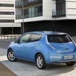 Das Elektroauto Nissan Leaf in der Heckansicht