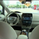 Das Innenraum des Nissan Leaf