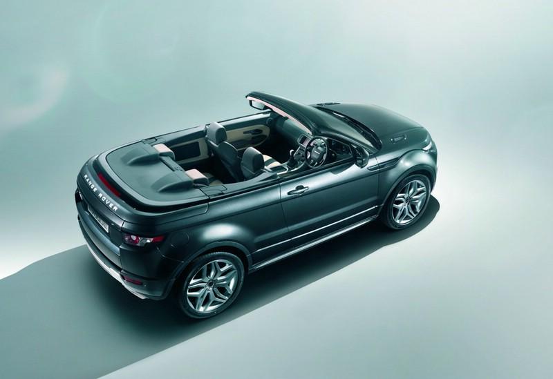Land Rover Konzeptfahrzeug Range Rover Evoque Cabriolet in der Seitenansicht