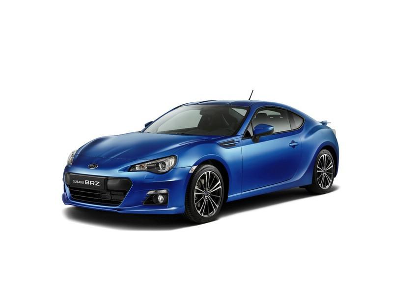 Der Sportwagen Subaru BRZ in der Farbe Blau