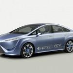 Wasserstofffahrzeug Toyota FCV-R wird auf der Automesse in der Schweiz gezeigt