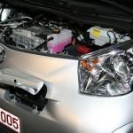 Der Motor des Elektroautos Toyota iQ EV