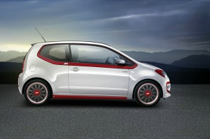 Der Volkswagen Up in der Abt-Version in der Seitenansicht