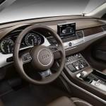 Das Armaturenbrett des neuen Audi A8 hybrid