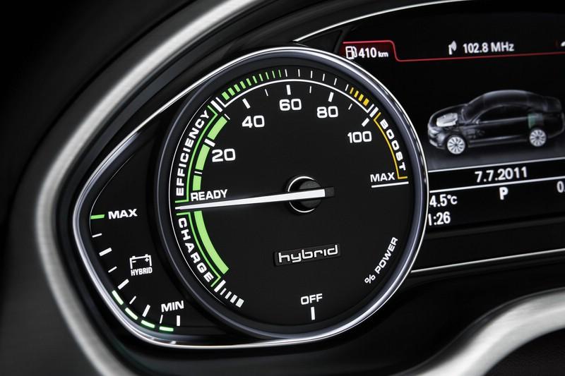 Das Powermeter des Audi A8 hybrid liefert alle wichtigen Informationen