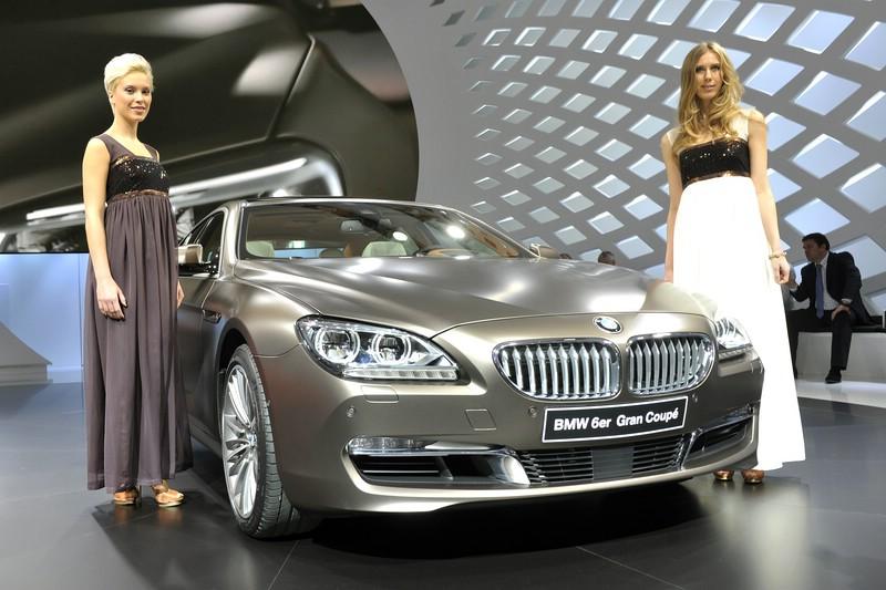 Der BMW 6er Gran Coupe auf dem Genfer Autosalon 2012 + Messegirls