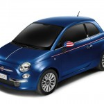 Fiats neues 500 Sondermodell America in Blau