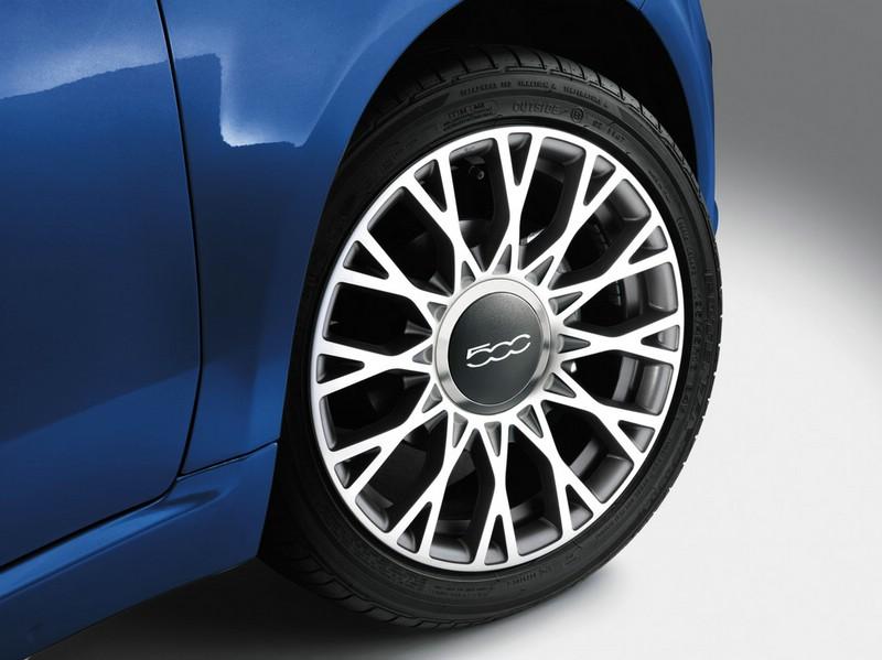 Leichtmetallfelgen des Sondermodells Fiat 500 America