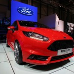 Der Ford Fiesta ST in der Frontansicht auf dem Genfer Autosalon