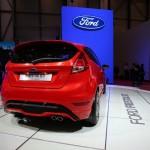 Tiefergelegter Ford Fiesta ST in der Heckansicht